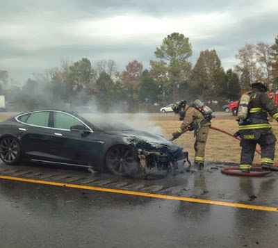 Tesla Model S fire near Nashville TN