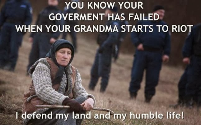 Pungesti, Romania, anti-fracking riots so severe the grandparents were involved