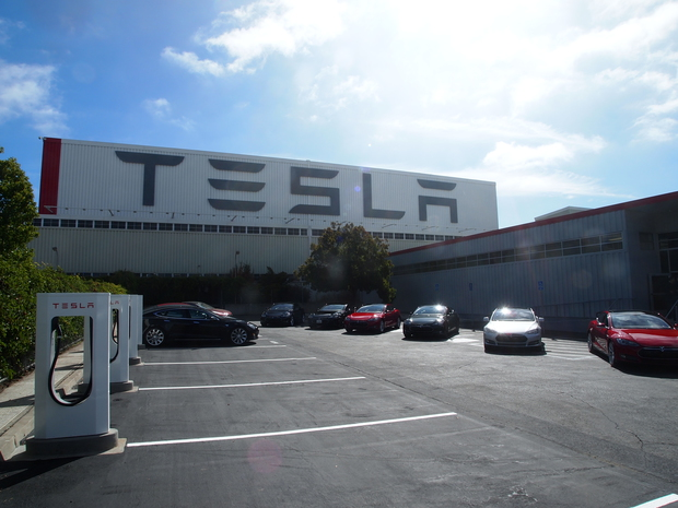 Tesla Motors factory in Fremont CA
