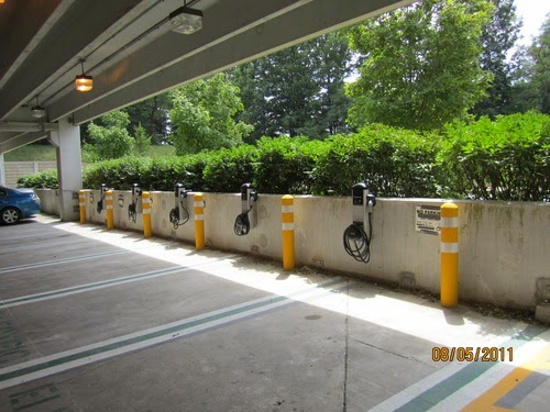 BWI-airport ChargePoint installation