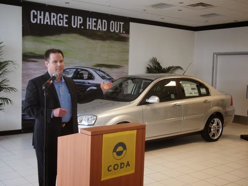 Coda electric sedan, first customer delivery in Silicon Valley