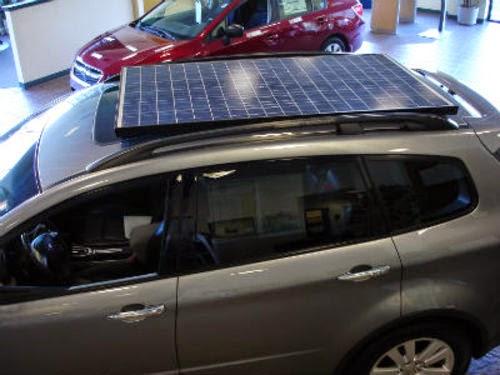 April Fools - Suburu w/ solar panels