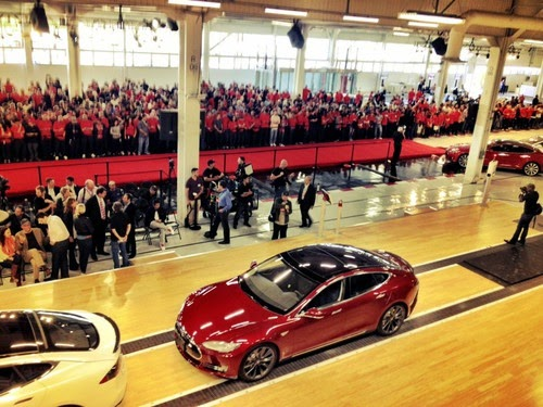 Tesla Model S First Delivery, June 2012