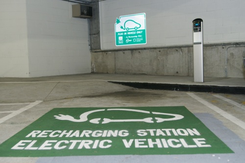 ChargePoint station in Walnut Creek, CA