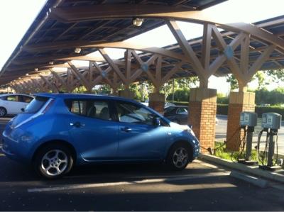 Leaf Charging under Solar Panels