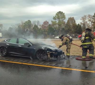 Tesla Model S fire near Nashville TN