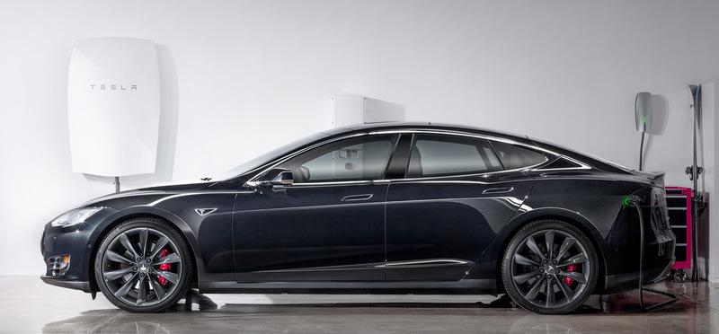 Tesla Energy Powerwall w/ Model S
