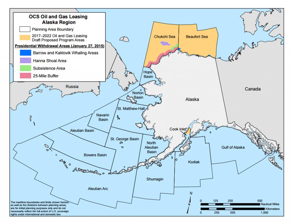 Oil exploration blocks around Alaska