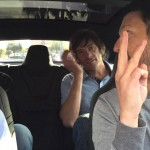 The Model S P85D's insane acceleration catches these people totally unaware
