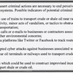Is sharing oil train videos on youtube really an environmental extremism action?
