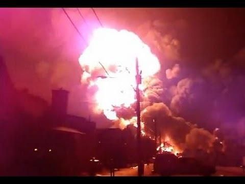 Canada Oil Train Explosion Lac Megantic Full HD