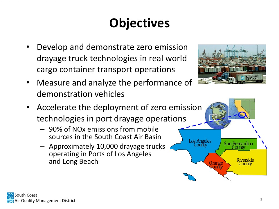 Electric Big Trucks South Coast Air Quality Management District overview