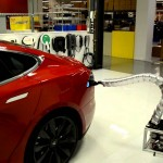 Tesla motors working on snake-like auto-connecting charging station