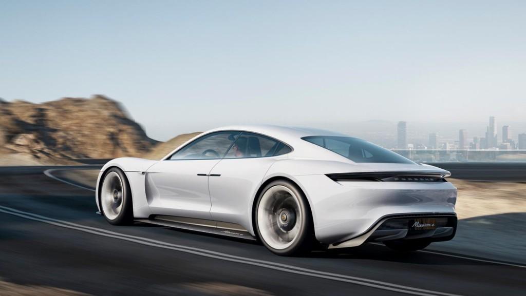 Porsche Mission E on the road