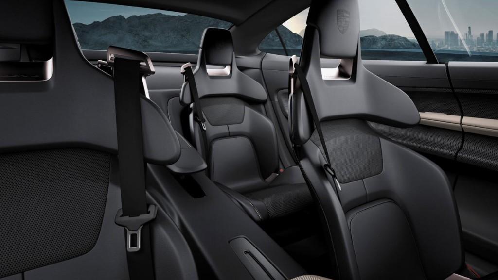 Porsche Mission E interior - 4 seats
