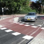 A novel cyclist-friendly roundabout design in Zwolle Netherlands