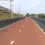 Snelbinder – one of Netherlands' longest bicycle bridges, connects Nijmegen to Lent