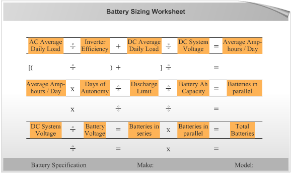 Energy storage system sizing