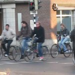 Bicycling around the clock in the Netherlands, the Dutch rack up millions of cycle trips a day