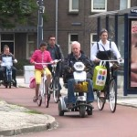Extra benefits of the protected bicycling infrastructure in the Netherlands