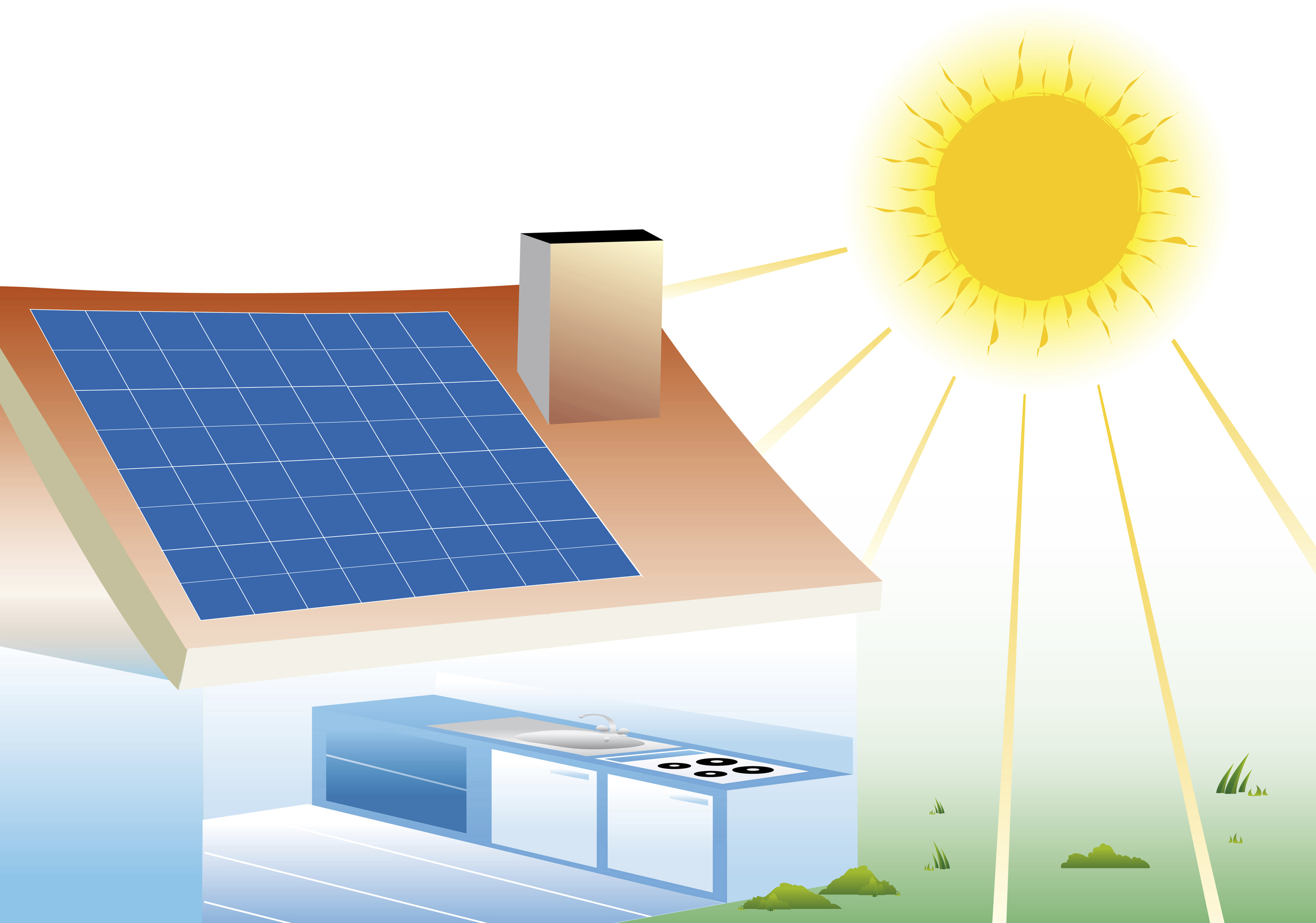 Understand home solar power system design with this for Solar powered home designs