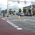 Intersection reconstruction in The Netherlands creates paths for bicyclists