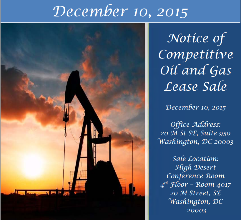 December 2015 Oil and Gas Lease Sale