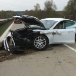 Tesla Model S wreck in Germany gives fire crew chance to practice safety procedures