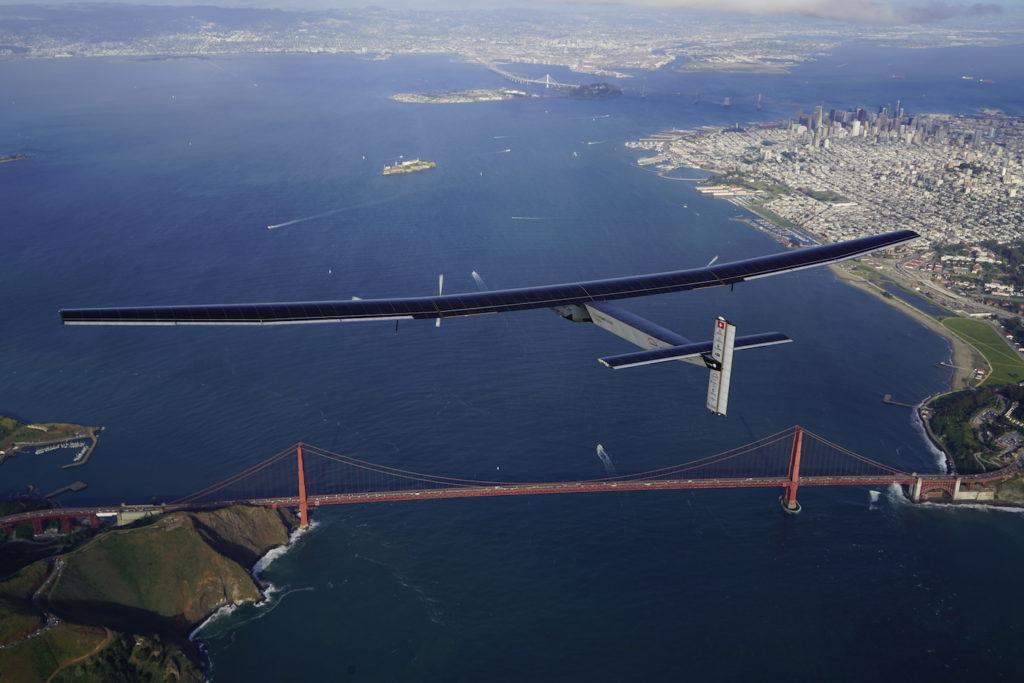 Solar Impulse landing in Mountain View, California, United States of America