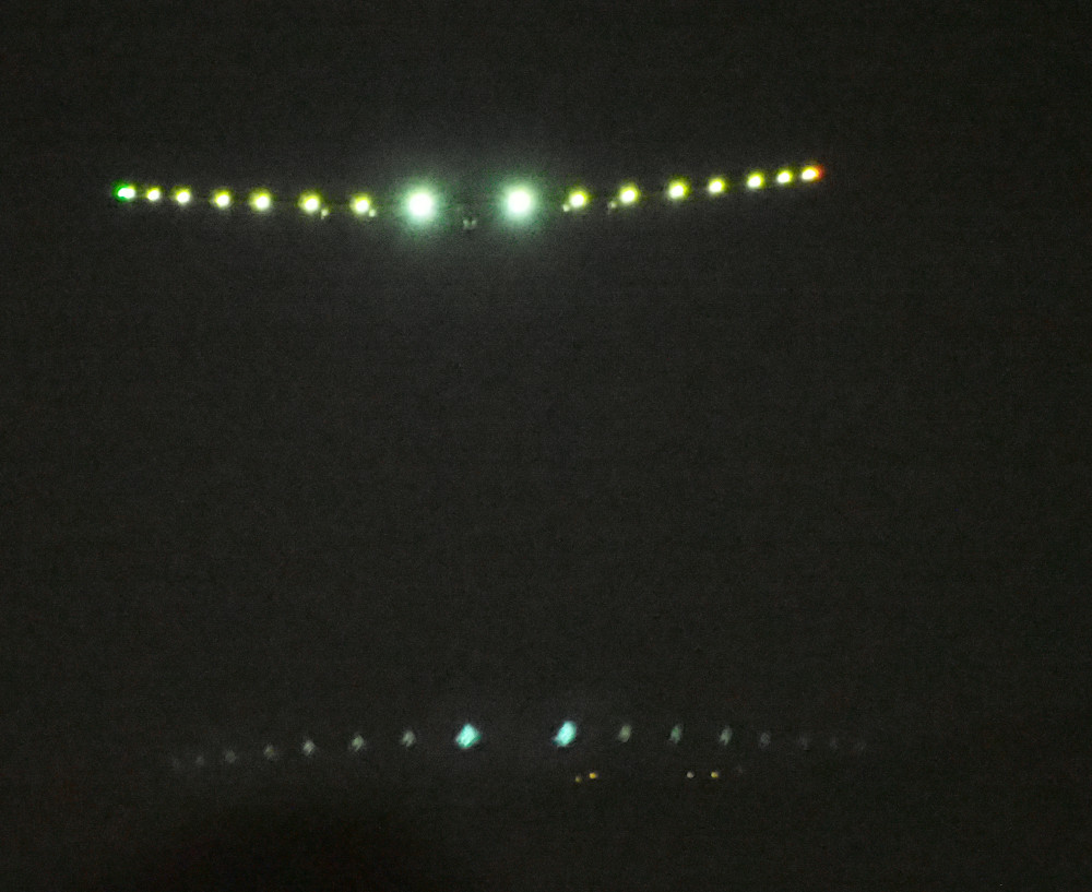 While landing the Solar Impulse looked like its wings were impossibly wide