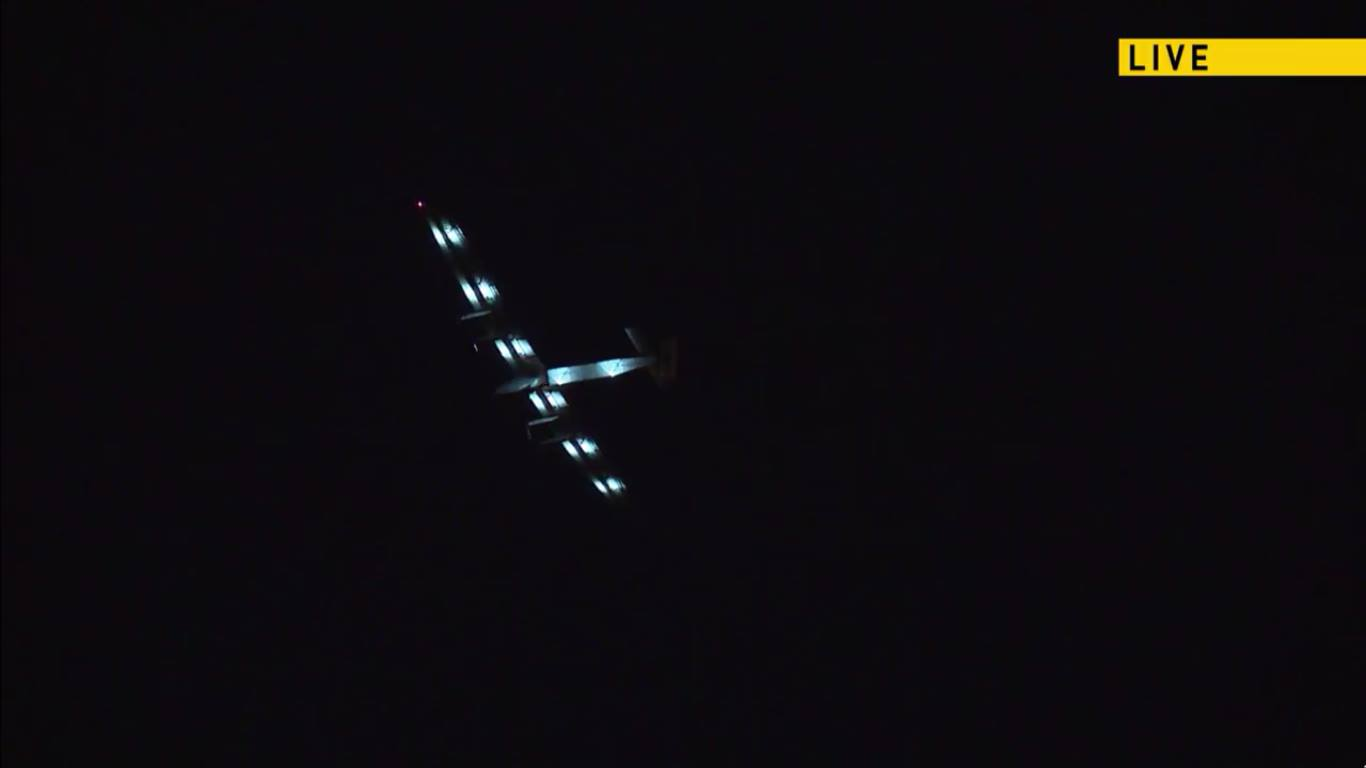 Solar Impulse flying over NYC, courtesy of Solar Impulse Live Stream