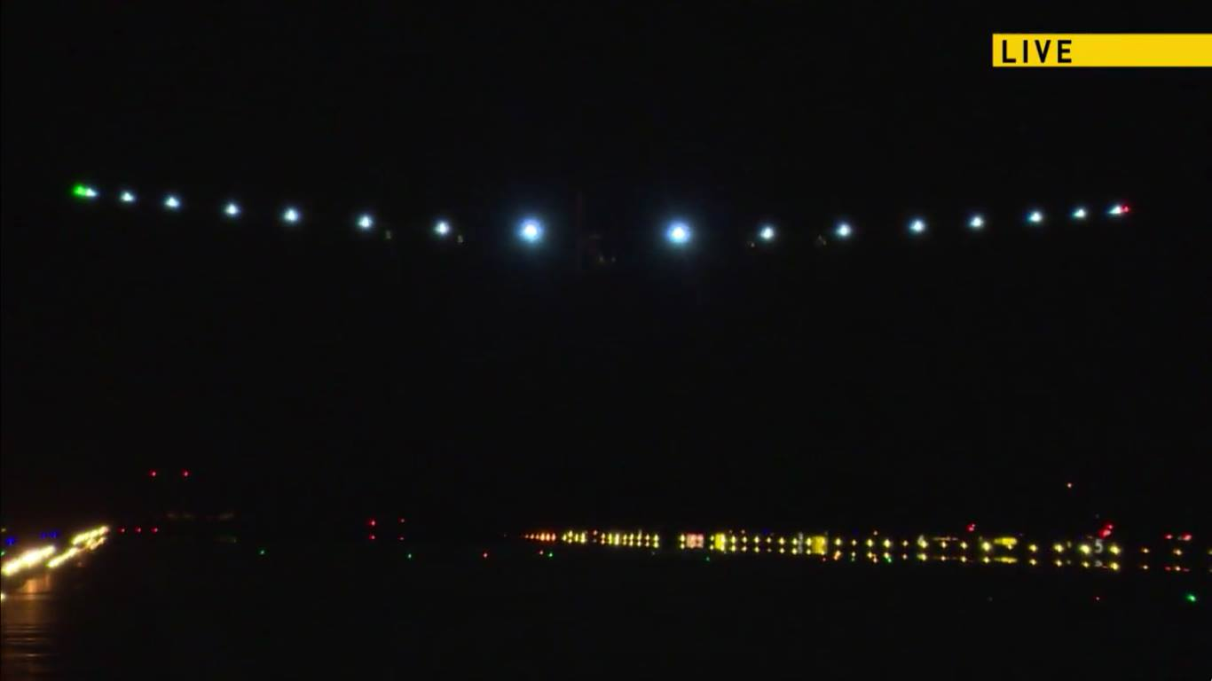 Solar Impulse arrival at JFK