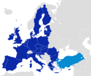 EU and Turkey Locator Map