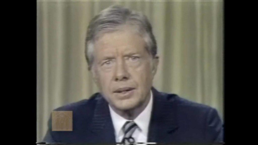 Reagan and Carter in 1980 Presidential Debate