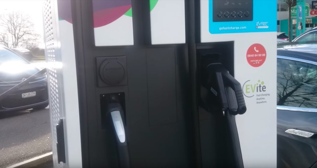 First Non Tesla Supercharger Providing Dc Fast Charging For Tesla