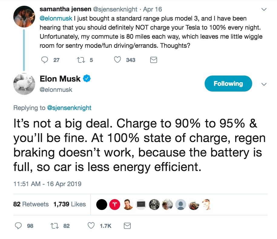 Tesla CEO Elon Musk giving flawed charging advice on Twitter | The