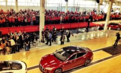 Tesla Model S first production rolls off the line