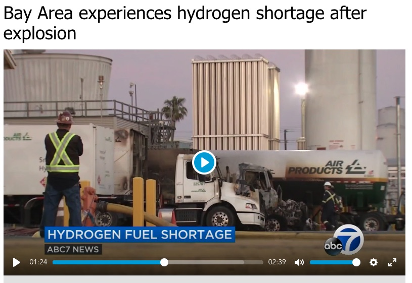 Fuel Cell car owners stuck in SF Bay Area after hydrogen explosion
